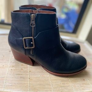 NEW KORK EASE ISA Moto Bootie Ankle Boots side zip